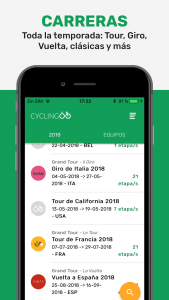 Cyclingoo en iOS