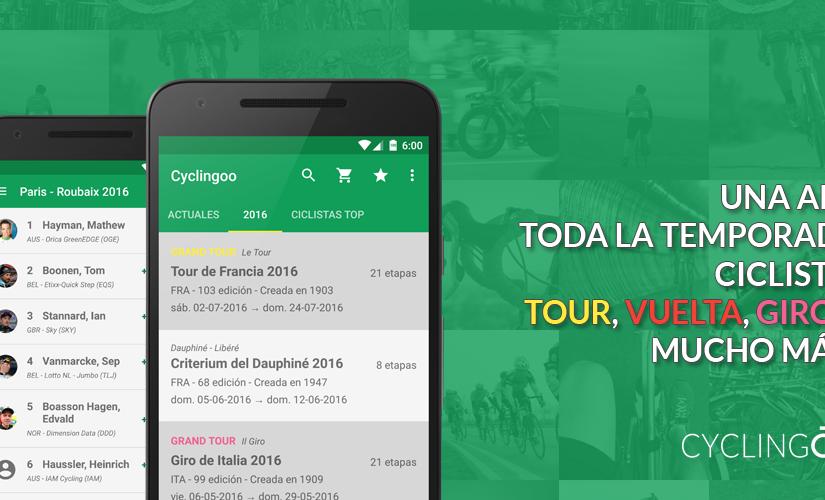 Cyclingoo, tu nueva app y web para seguir toda la temporada ciclista!